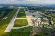 Flughafen bei Dresden im Bundesland Sachsen