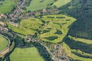 Golfplatz in Possendorf bei Dresden im Bundesland Sachsen
