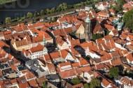 Die historische Altstadt Pirna in Sachsen erstrahlt in der herbstlichen Nachmittagssonne.