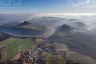 Elbtal der Sächsischen Schweiz bei Königstein im Bundesland Sachsen