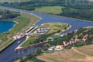 Schiffshebewerk Rothensee bei Magdeburg im Bundesland Sachsen-Anhalt