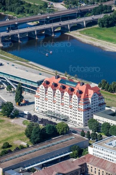 Das Hotel Maritim an der Elbe, im schönen Dresden bei Sachsen in Deutschland.