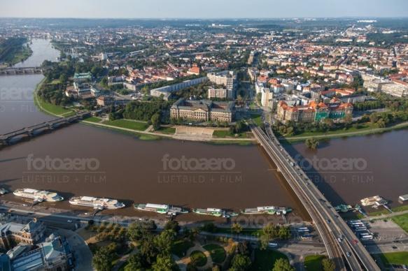 Elbe in Dresden im Bundesland Sachsen