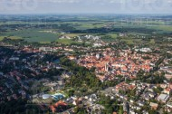 Blick über die Stadt Freiberg im Bundesland Sachsen