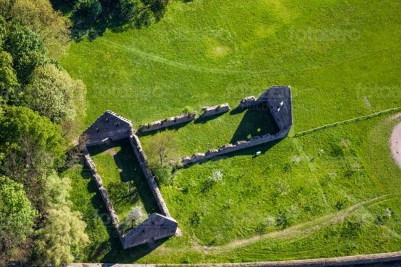 Ruinen auf der Gelände vom Klosterpark Altzella in Nossen im Bundesland Sachsen