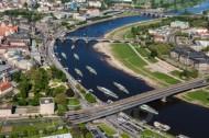 Dampferparade auf der Dresdner Elbe im Bundesland Sachsen