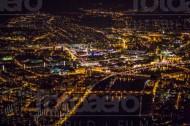 Dresdner Innenstadt bei Nacht im Bundesland Sachsen
