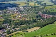 Göltzschtalbrücke bei  Mylau und Netzschkau im Vogtland im Bundesland Sachsen