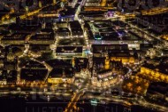 Dresdner Altstadt bei Nacht im Bundesland Sachsen