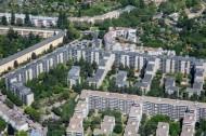 Wohngebiet im Stadtteil Neuköln in der Hauptstadt Berlin