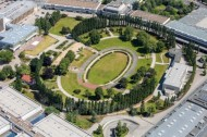Sommergarten im Berliner Messegelände.