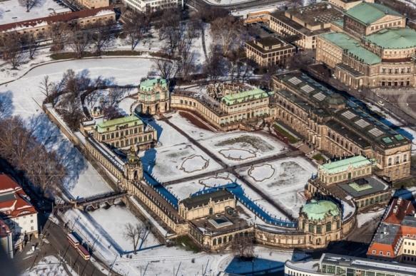 Dresdner Zwinger in Dresden im Bundesland Sachsen im Winter