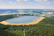 Oberbecken Markersbach bei Mittweida im Bundesland Sachsen