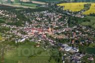 Stadtkern von Oederan im Bundesland Sachsen