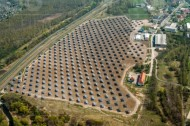 Solargewinung in Borna bei Leipzig.