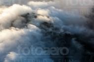 Wolken an einem Berg in der Sächsischen Schweiz
