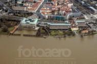 Japanisches Palais in Dresden bei Hochwasser.