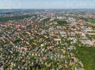 Blick über Dresden im Bundesland Sachsen