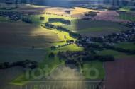 Felderlandschaft in der Nähe von Bischofswerda im Bundesland Sachsen