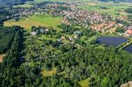 Blick auf die Stadt Moritzburg im Bundesland Sachsen