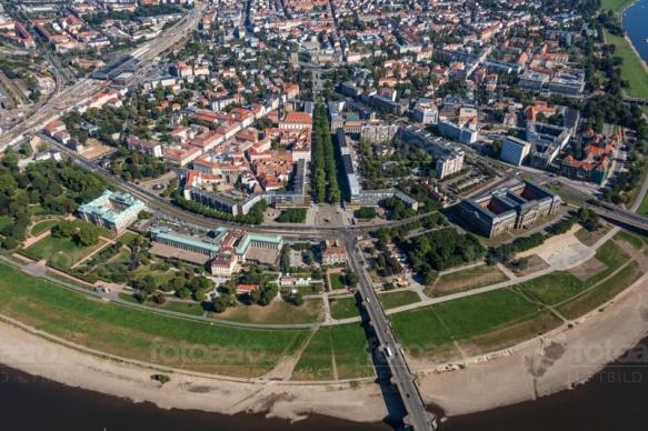 Historische Neustadt in Dresden im Bundesland Sachsen