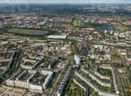 Blick auf den Dresdner Stadtteil Prohlis im Bundesland Sachsen