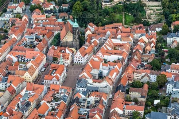 Die historische Altstadt von Pirna im Bundesland Sachsen.