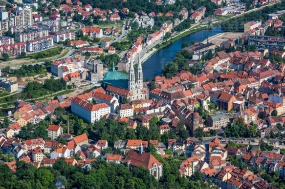 Neiße in Görlitz in der Oberlausitz im Bundesland Sachsen