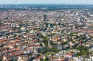 Luftaufnahme von Berlin.