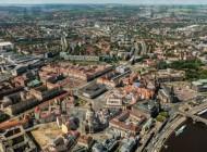 Die Frauenkirche mit Blick auf den Neumarkt in Dresden bei Sachsen.