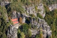 Felsen in der Sächsischen Schweiz im Bundesland Sachsen