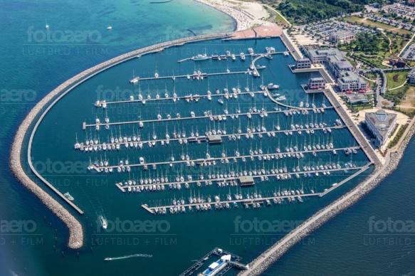 Yachthafen in Rostock im Bundesland Mecklenburg-Vorpommern