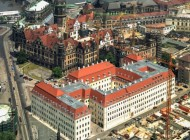 Taschenbergpalais in Altstadt von Dresden im Bundesland Sachsen