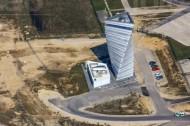 """Gebäude auf der Baustelle des Flughafens Berlin Brandenburg """"Willy Brandt"""" in der Hauptstadt Berlin"""