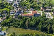 Schloss Voigtsberg im Oelsnitz Vogtland des Bundeslands Sächsische Schweiz.