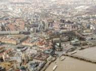 Der Dresdner Altmarkt im Hochwasser.
