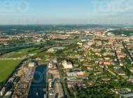 Blick auf die Dresdner Innenstadt im Bundesland Sachsen