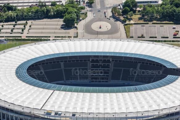 Berliner Olympiastadion im Bezirk Charlottenburg-Wilmersdorf.