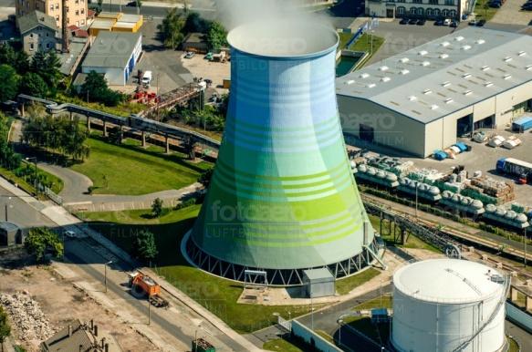 Ventilatorkühlturm des Kraftwerkes Dresden.