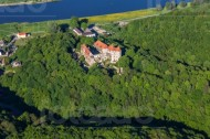 Das Scharfenberg Schloss im Bundesland Sachsen.