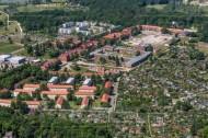 Sicht auf eine Häuserlandschaft in Potsdam.