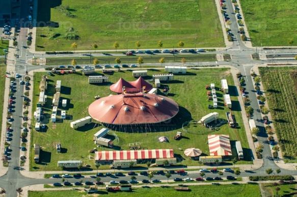 Zirkus in Dresden Mickten in Sachsen in Deutschland.