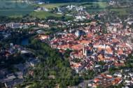 Stadtkern von Freiberg im Bundesland Sachsen