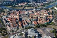 Altstadt von Dresden an der Elbe im Bundesland Sachsen