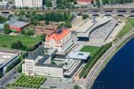 Gebäude, nähe des Terassenufers in Dresden bei Sachsen in Deutschland