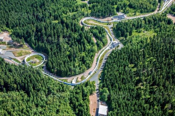 Rennschlitten- und Bobbahn zwischen Altenbahn und Waldbärenburg im Bundesland Sachsen