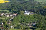 Rochsburg mit Schloss in Sachsen.