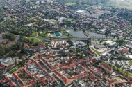 Überschwemmung im Naturerlebnisbad in Großenhain im Bundesland Sachsen