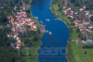 Elbtal der Sächsischen Schweiz bei Wehlen im Bundesland Sachsen