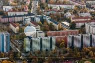 Sannierte DDR Plattenbauten in Johannstadt bei Dresden in Sachsen.
